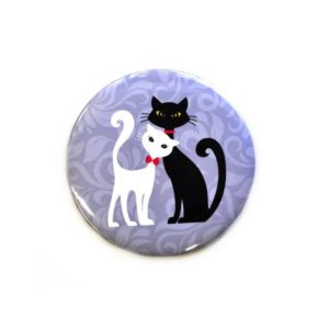 Zrcátko do kabelky s kočkami